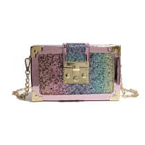 Women Crossbody Glitter Patchwork Diamond Square Handbags