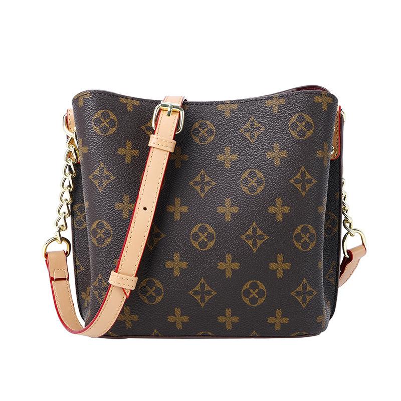 Fashion Women Grid Pattern Single Shoulder Chain High Capacity Bags