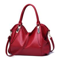 Women Solid Color Handbag Crossbody PU Large Tote Bags