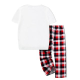 KidsHoo Exclusive Design Cute Christmas Deer Top Tshirt and Red Plaids Pants Christmas Family Matching Sleepwear Pajamas Sets