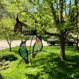 Hummingbird Stained Glass Windows Hanging Home Decoration Creative Gifts