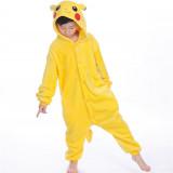 Kids Pokemon Pikachu Onesie Kigurumi Pajamas Kids Animal Costumes for Unisex Children