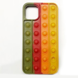 Pop It Fidget Toys Color Matching Soft Silicone iPhone Case For iPhone 12 11 Pro Max 12