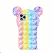 Pop It Fidget Toys Mickey Ears Soft Silicone iPhone Case For iPhone 12 11 Pro Max 12
