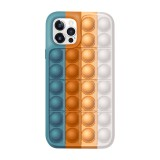 Pop It Fidget Toys Rainbow Soft Silicone iPhone Case For iPhone 12 11 Pro Max 11