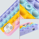 Pop It Fidget Toys Rainbow Soft Silicone iPhone Case For iPhone 12 11 Pro Max 12
