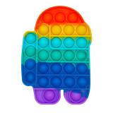 Rainbow Among us Pop It Fidget Toy Push Pop Bubble Sensory Fidget Toy Promotion Gift