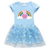 Toddler Girls Rainbow Peppa Pig A-Line Tutu Dresses