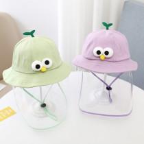 Kids Dustproof Anti Spitting Protective Cute Design Shield Bucket Hat