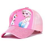 Kids Prints Frozen Mesh Sunhat Baseball Hip-pop Cap