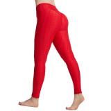 Women High Waist Tiktok Butt Slim-Fitting Pocket Seamless Yoga Leggings Breathable Workout Fitness Pants