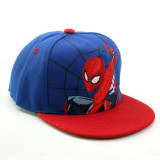 Kids Embroidery Spiderman Hip-hop Sunhat Baseball Peaked Cap