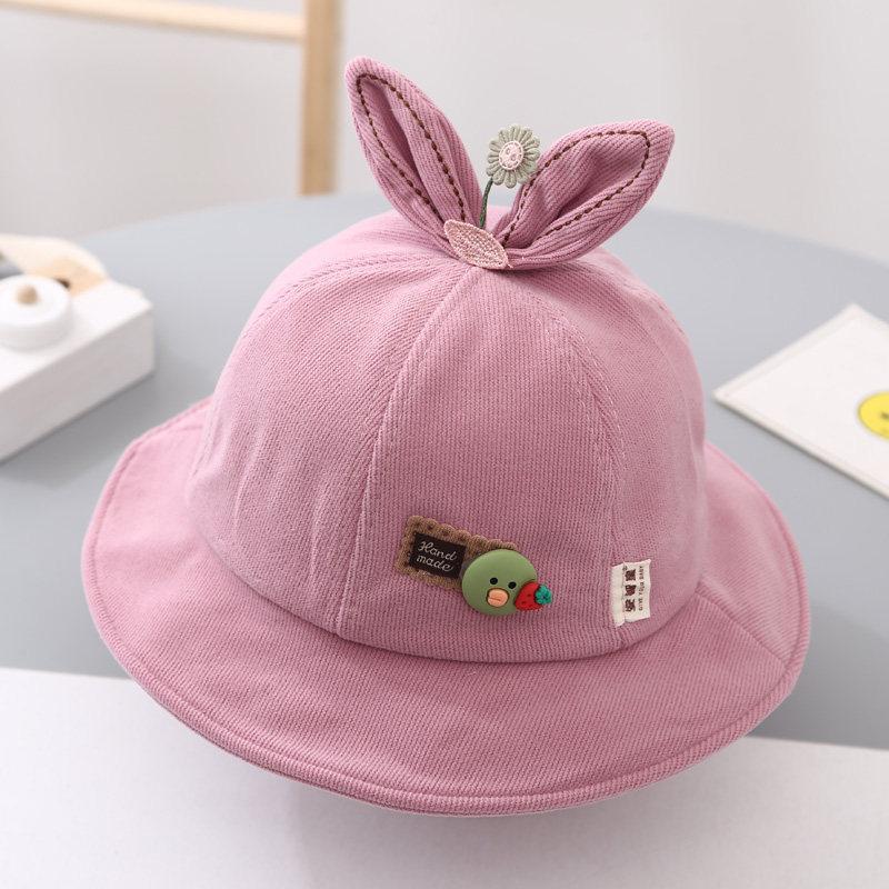 Kids Rabbit Ears Sunhat Bucket Hat Fisherman Cap