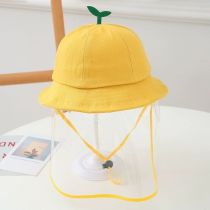 Kids Dustproof Anti Spitting Protective Shield Budlet Top Bucket Hat