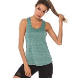 Women Stripe Style Quick-Dry Sport Vest Basic Cationic Fitness Training Yoga U Shape Collar And Off-The-Shoulder Vest