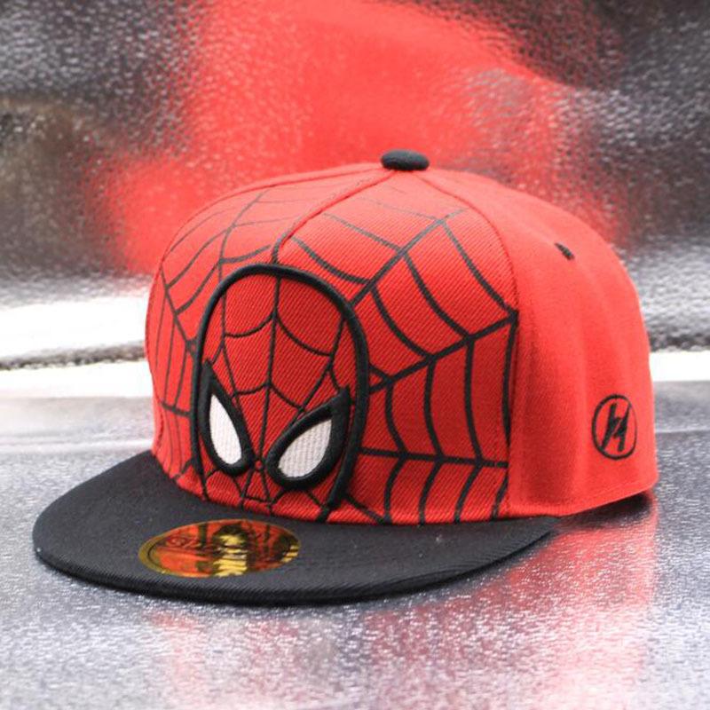Kids Spiderman Hip-hop Sunhat Baseball Cap