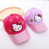 Kids Hello Kitty Sequin Stars Sunhat Baseball Peaked Cap