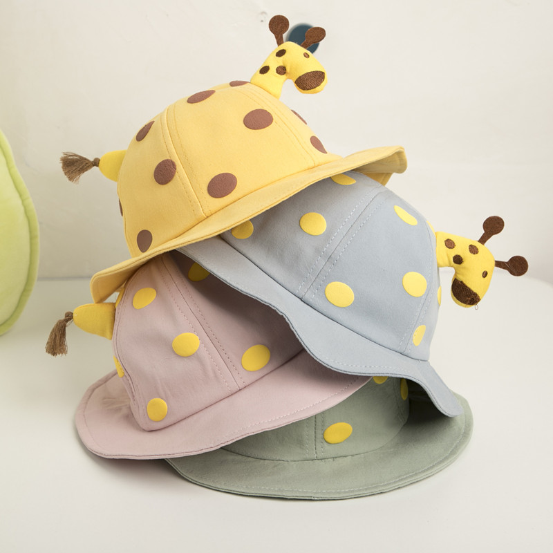 Kids Baby 3D Giraffe Sunhat Cute Bucket Hat Cap