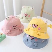 Kids Cute 3D Frog Smile Sunhat Fishman Bucket Hat Cap