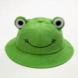 Kids Cute Frog Smile Sunhat Fishman Bucket Hat Cap