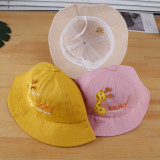 Kids Cute Giraffe Lucky Fawn Sunhat Bucket Hat