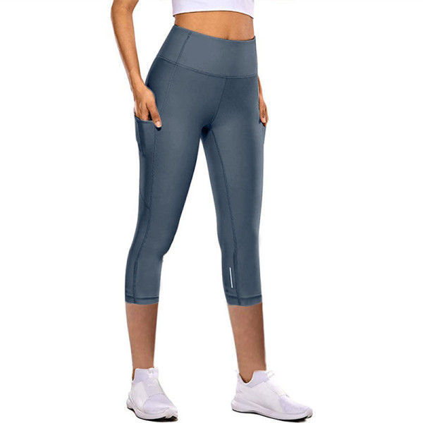 Women High Waist Yoga Leggings with Pockets Tummy Control Running Stretch Workout Fitness Pants