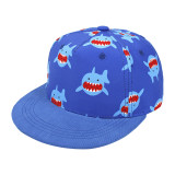 Kids Cute Prints Rainbow Shark Sunhat Baseball Hip-pop Cap