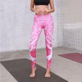 Women Mandala Colorful Tree of life Prints Yoga Leggings Workout Fitness Sports Gym Tight Tummy Control Pants