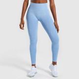 Women Seamless High Waist Hip Tight Yoga Leggings Jacquard Workout Sports Fitness Pants
