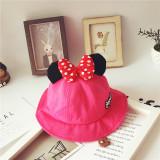 Kids Minnie Mouse Bowknot Sunhat Bucket Hat Fishmen Cap