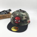 Kids Marvel Spiderman Captain America Hip-hop Baseball Camouflage Cap
