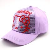 Kids Embroidery Sequins Hello Kitty Sunhat Baseball Peaked Cap