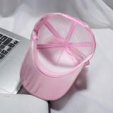Kids Toddler Girl Anti-UV Pearls Bowknot Mesh Summer Baseball Cap