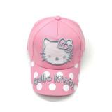 Kids Embroidery Hello Kitty Dots Sunhat Baseball Cap