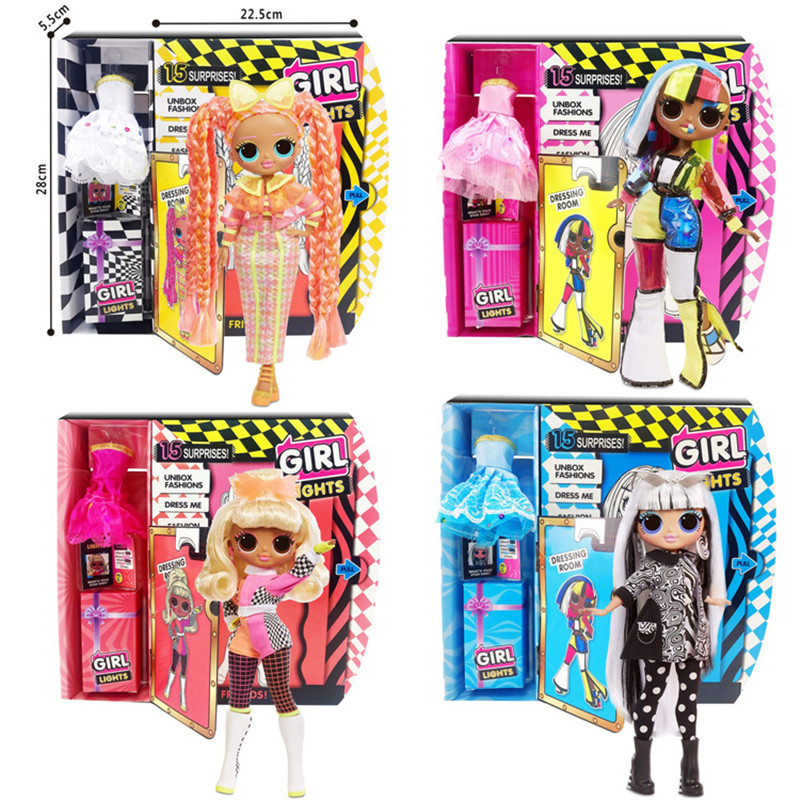 L.O.L. Surprise Dance Music Hair Girl Fashion Doll Mystery Blind Box Movable Doll Toy