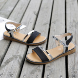 Women Sequins Macthing Color Casual Flat Summer Sandals