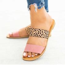 Women Snake Leopard Prints Rainbow Transparent Flat Sandals