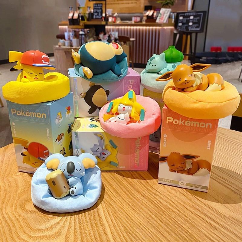 Pikachu Pokemon Cartoon Box Cute Figures Toys