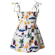 Toddler Girl Pineapples Crocodile Flamingos Printed Dresses