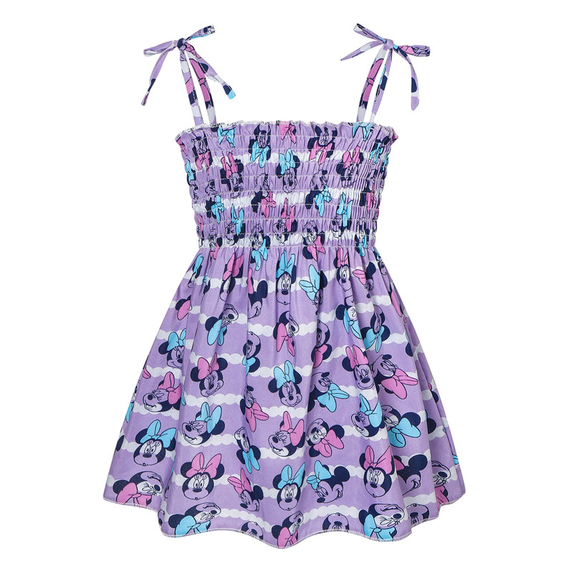 Toddler Girl Prints Minnie Zoo Summer Dresses