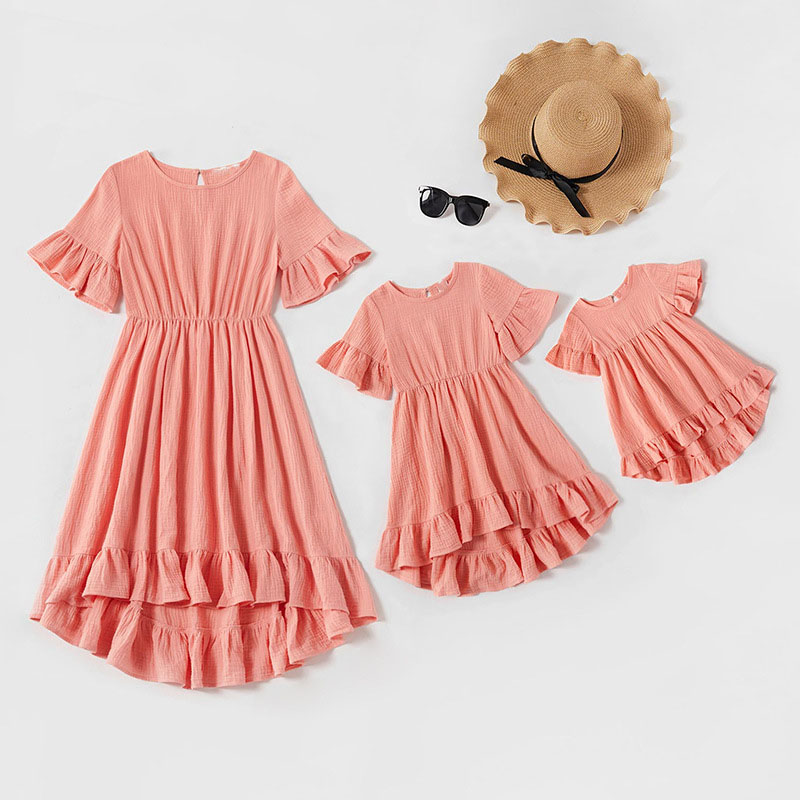 Mommy and Me Mother Daughter Ruffles Flounce Parent-Child Dress