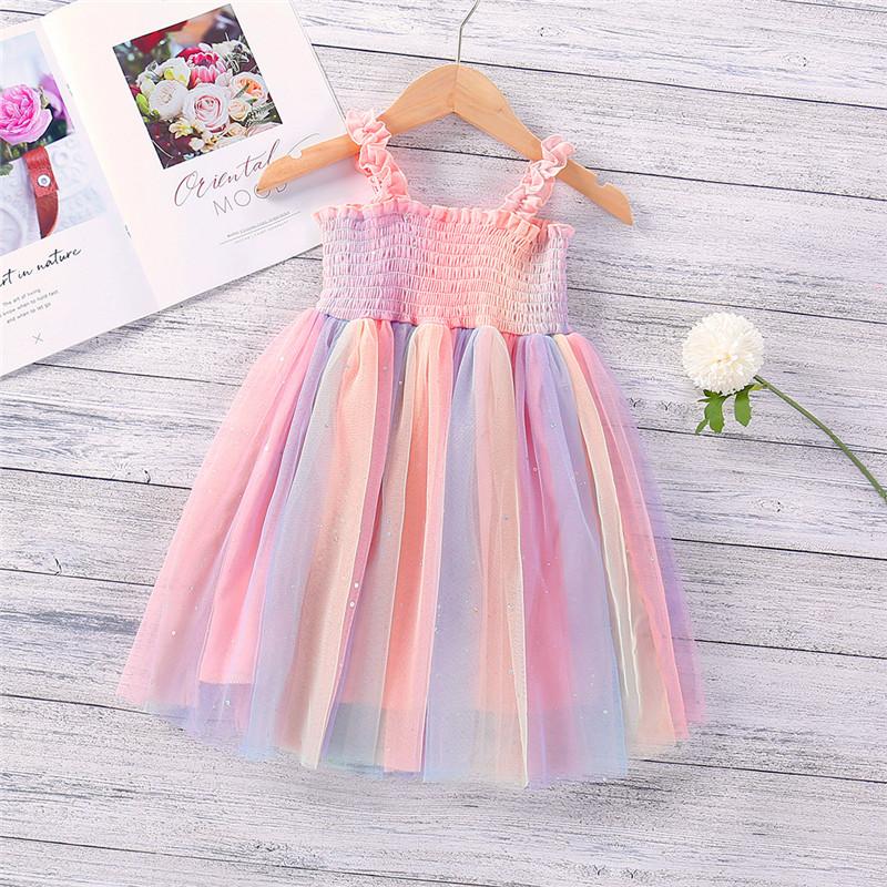 Toddler Girl Sling Rainbow Tutu Princess Dresses