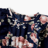 Mommy and Me Matching Flowers Baby Clothes Slips Backless Jumpsuit