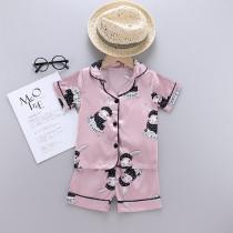 Toddler Kids Girl Prints Rabbits Summer Short Pajamas Sleepwear Sets