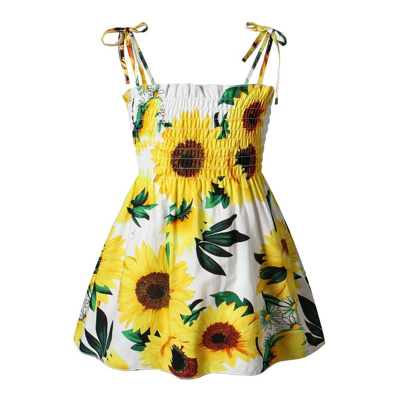 Toddler Girl Sunflowers Summer Dresses