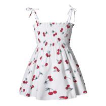 Toddler Girl Fruit Cherries Summer Dresses