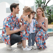 Matching Family American Independence Day Dress And Shirt