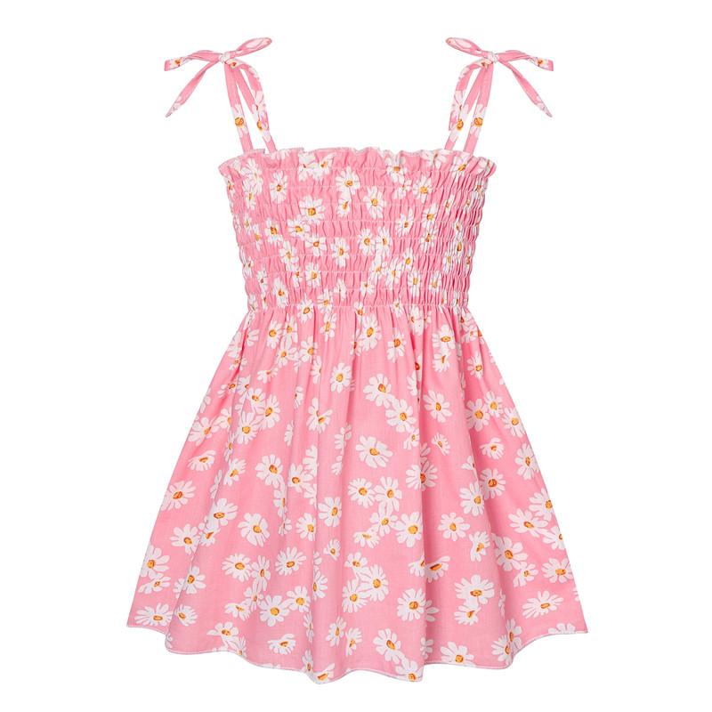 Toddler Girl Daisy Flowers Strap Summer Dresses