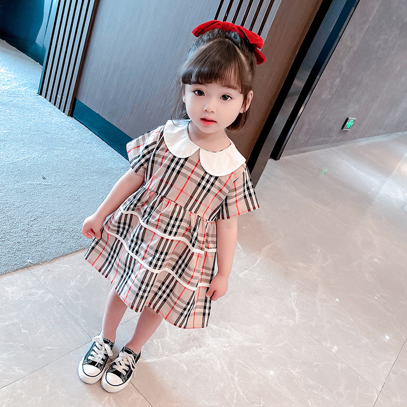 Toddler Girl Classic Plaids A-line Dresses