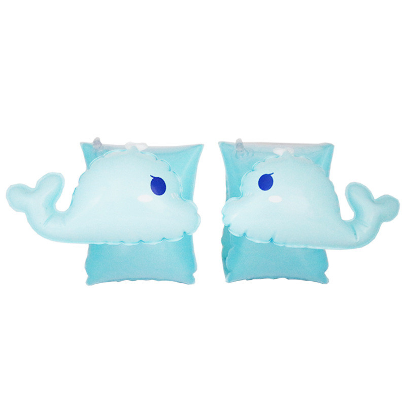 Toddler Kids Float Inflatable Blue Whale Arm Rings For Swimming
